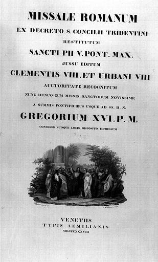 Missel romain de Venise ayant appartenu au Comte de Chambord : Page de titre