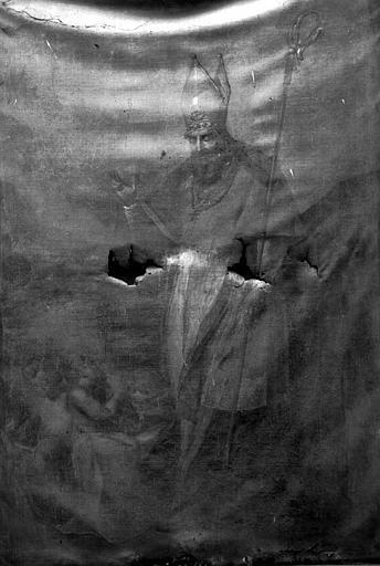 Peinture sur toile : Saint Nicolas et les trois enfants