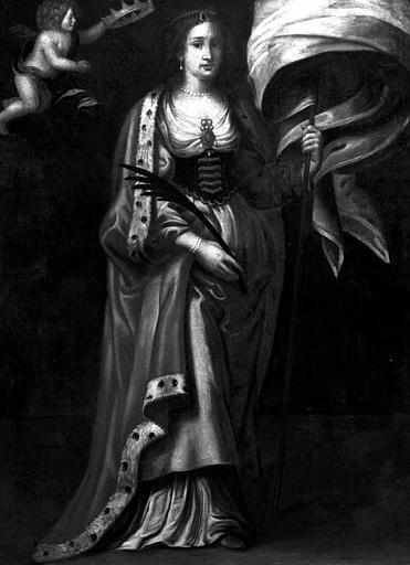 Peinture sur toile : Une sainte martyre