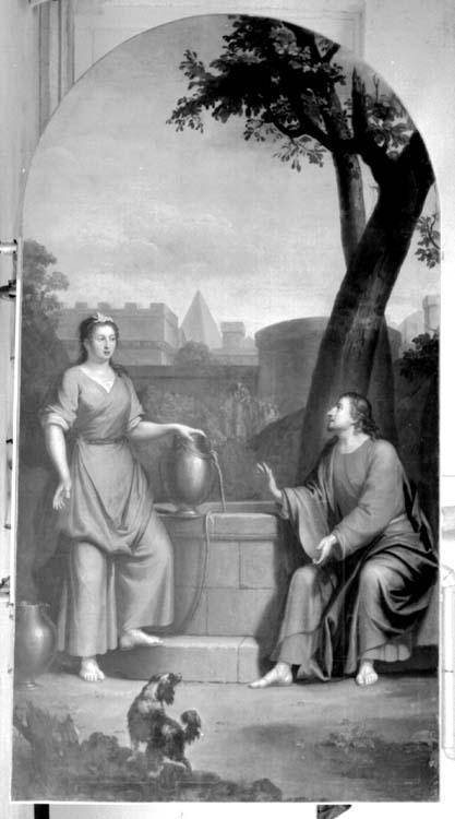 Peinture sur toile : Le Christ et la Samaritaine