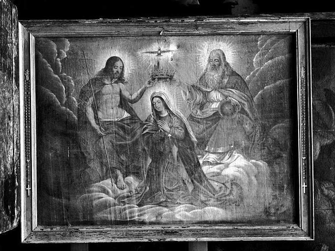 Peinture sur toile : Le couronnement de la Vierge