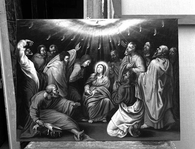 Peinture sur toile : La Pentecôte