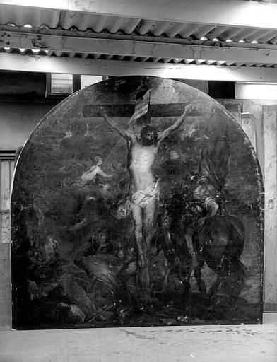 Peinture sur toile : Crucifixion