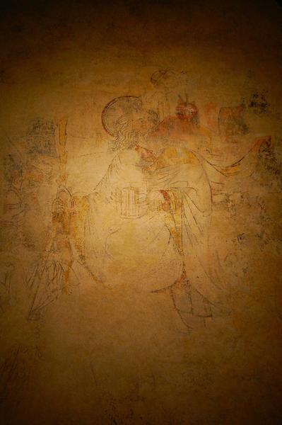 peinture monumentale de l'abside : saint Christophe, vue générale