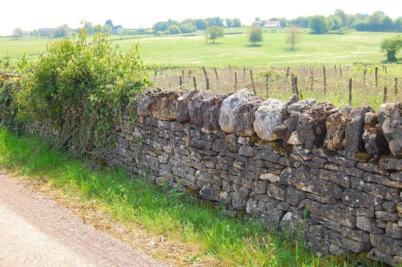 Vue partielle. Mur détruit en octobre 2013.