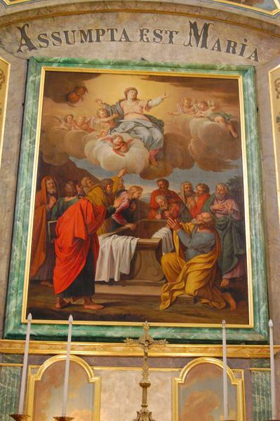 Vue générale du tableau du maître-autel : l'assomption