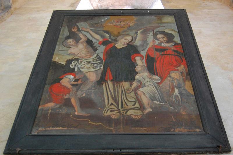 Tableau : Saint Roch et saint Sébastien