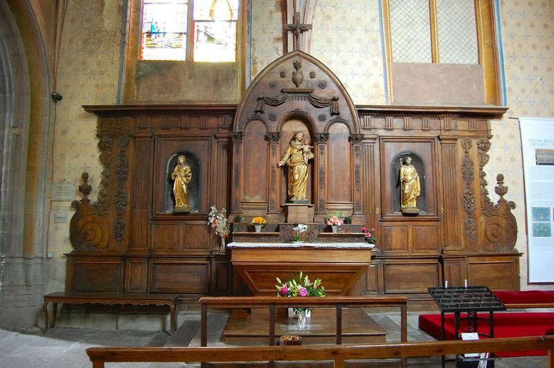 Retable-lambris de la chapelle de la Vierge