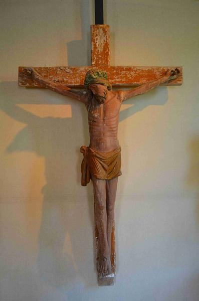 Poutre de gloire : Christ, Vierge et saint Jean