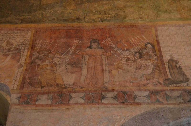 Peinture monumentale de la nef : la mort noire (la), vue générale
