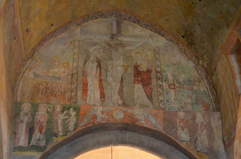 peinture monumentale de l'arc triomphale : la Crucifixion, vue générale