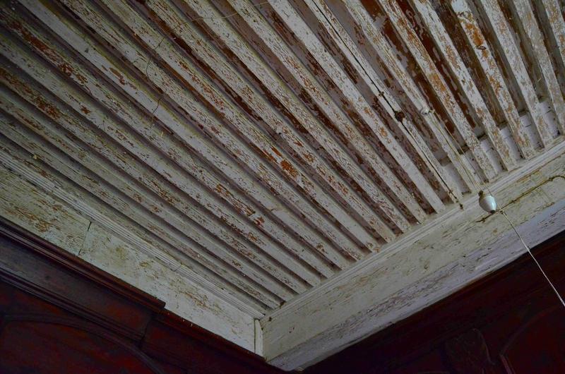 Vue partielle du plafond, aile sud