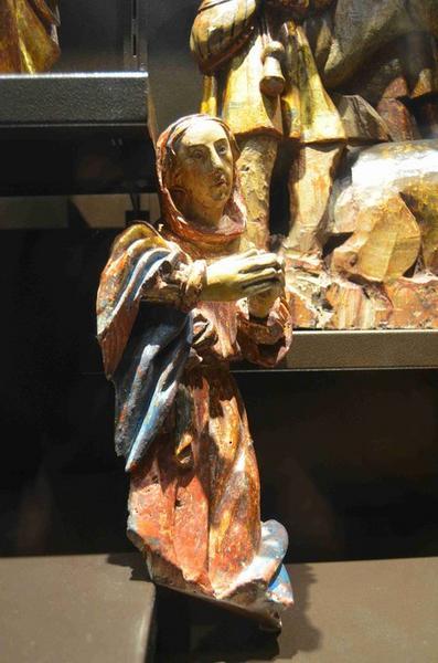 Crèche (10 personnages), vue générale de la Vierge