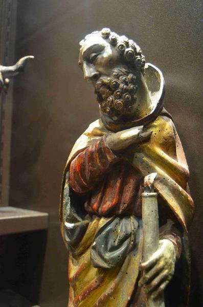 Crèche (10 personnages), vue partielle de Joseph