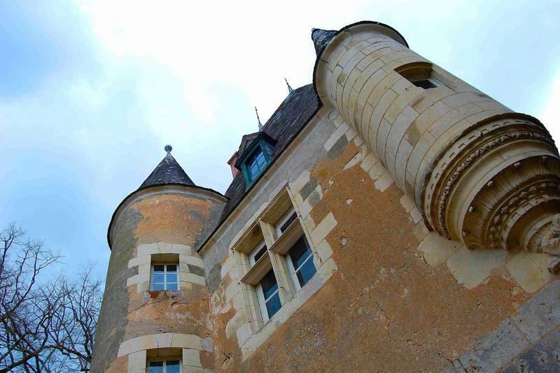 Châtelet d'entrée, façade sud, vue partielle