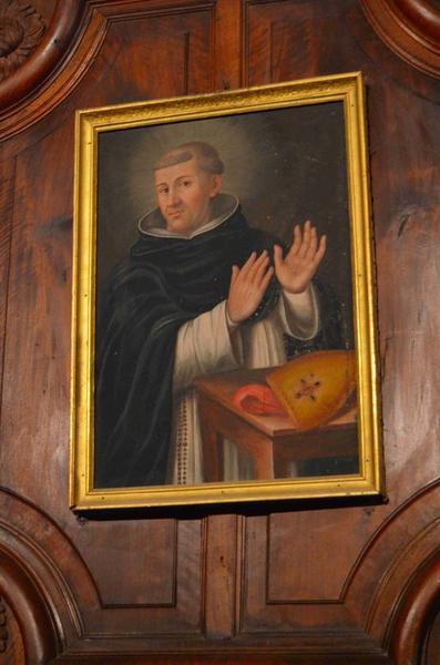 Tableau : Monseigneur Pagnotis en habit de dominicain, vue générale