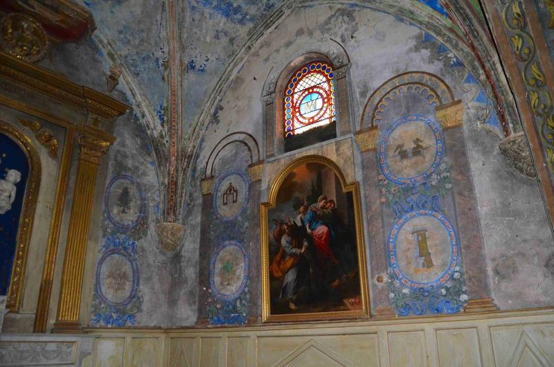Chapelle de la Vierge, vue partielle des peintures murales