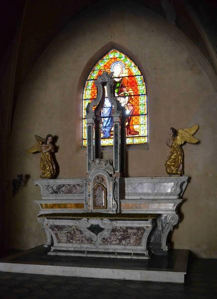 Autel de la chapelle Sainte-Anne (ancien maître-autel), vue générale