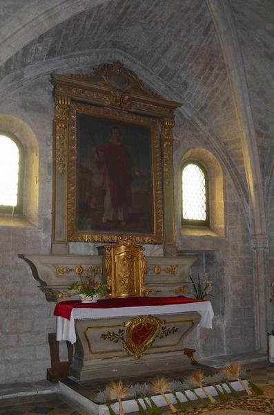 Autel de la chapelle Saint-Vincent, vue générale
