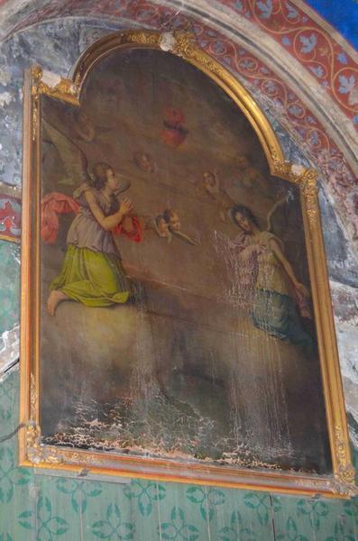Tableau : Adoration du Sacré-Coeur (l'), vue générale