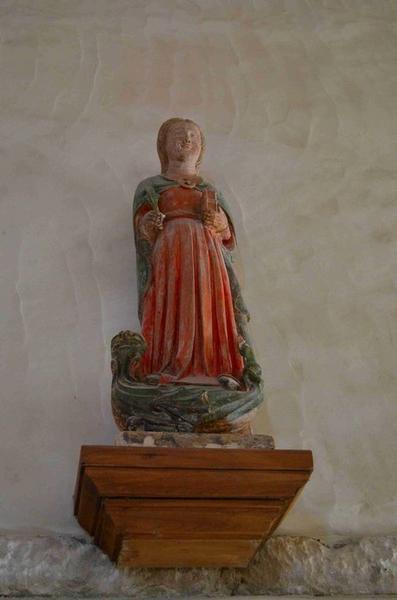 Statuette : Sainte Marguerite (?), vue générale