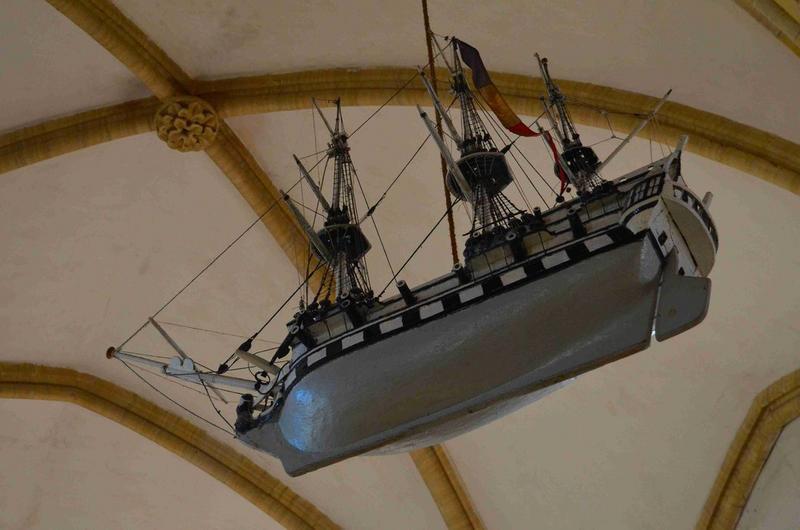 Maquette ex-voto : bateau, vue générale