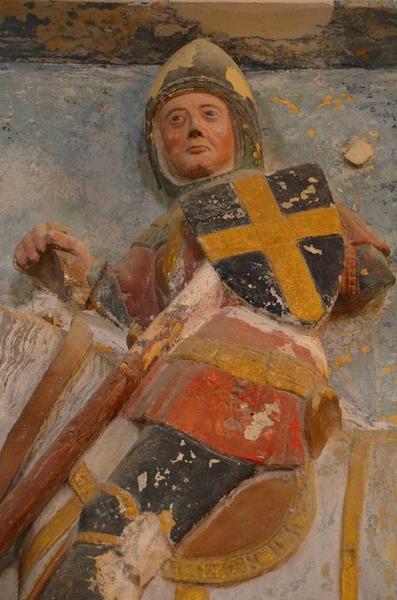Haut-relief : Saint Georges terrassant le dragon, vue partielle