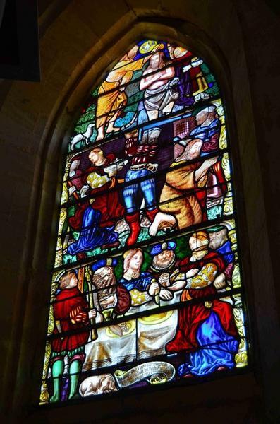 Verrière : Le Baptême du Christ et la Décollation de saint Jean-Baptiste