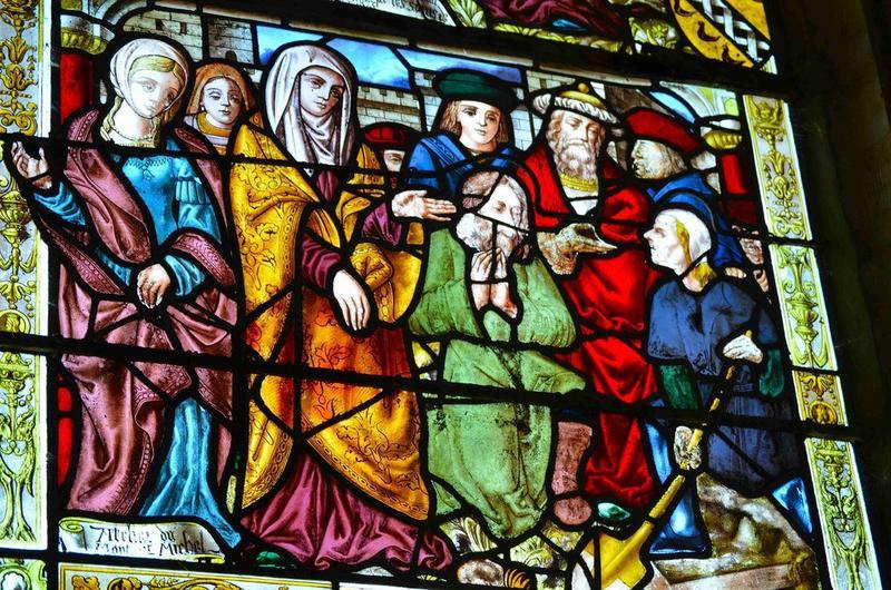 Verrière : Vie de la Vierge et de sainte Hélène, vue partielle