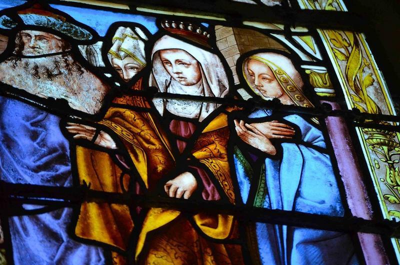 Verrière : Vie de la Vierge et de sainte Hélène, détail