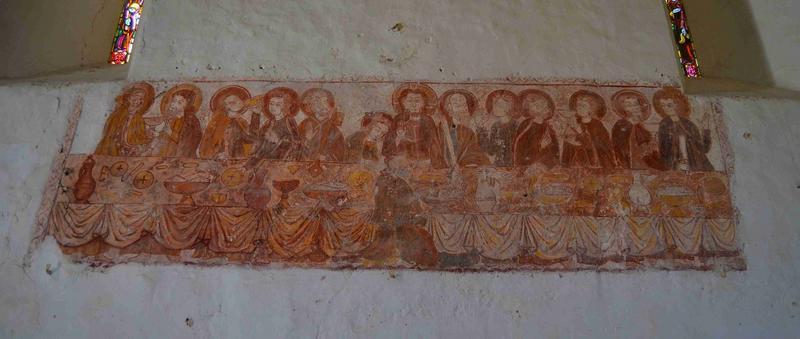 Peinture monumentale : La Cène, vue générale