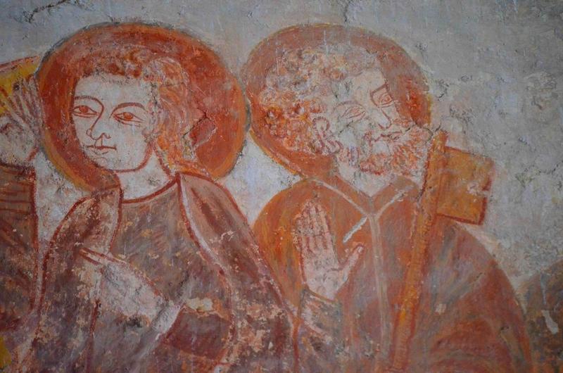 Peinture monumentale : La Cène, détail
