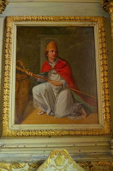 Maître-autel, détail, tableau : saint Martin