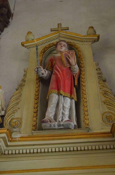 Maître-autel, détail, statue : saint Etienne