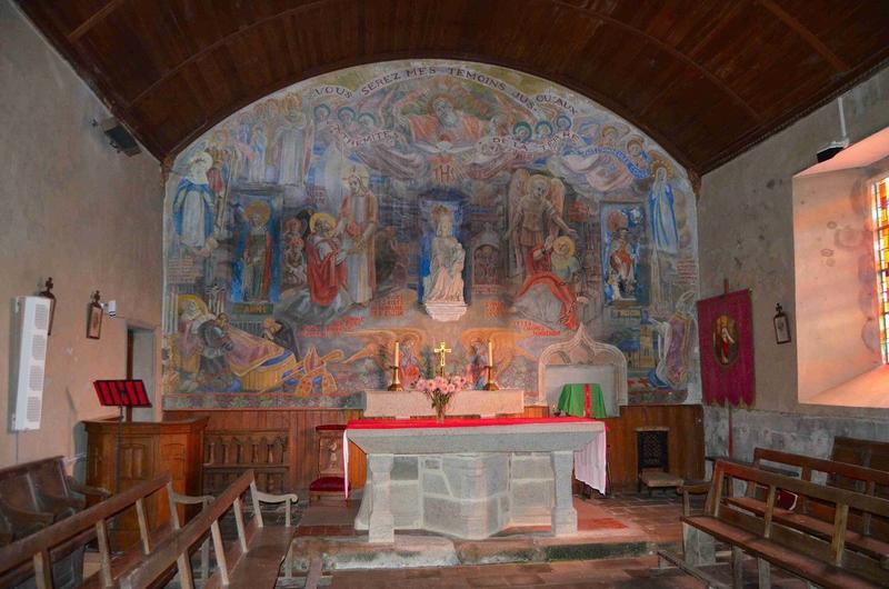 Peinture monumentale du mur du choeur, vue générale