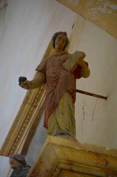 Statue : saint non identifié, vue générale