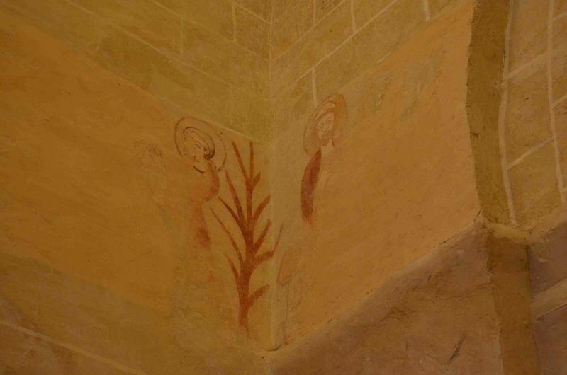 Peintures monumentales : Légendes de saint Jean-Baptiste et saint Laurent, détail