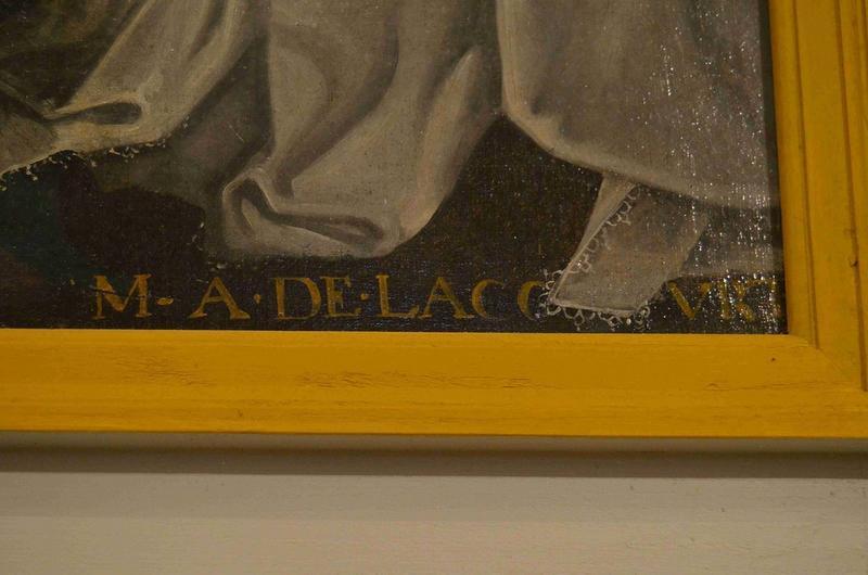 Tableau du maître-autel : Adoration des mages (l'), détail de la signature