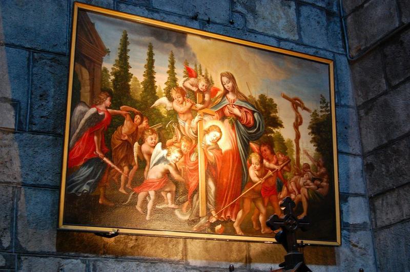 Tableau: la Vierge, les anges et le serpent, vue générale