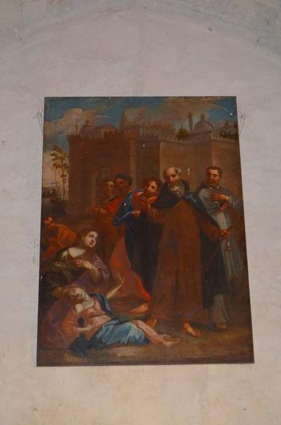 tableau: saint Antoine guérissant une possédée, vue générale