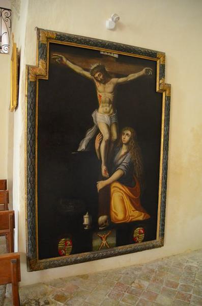 Tableau : sainte Marie-Madeleine au pied de la croix