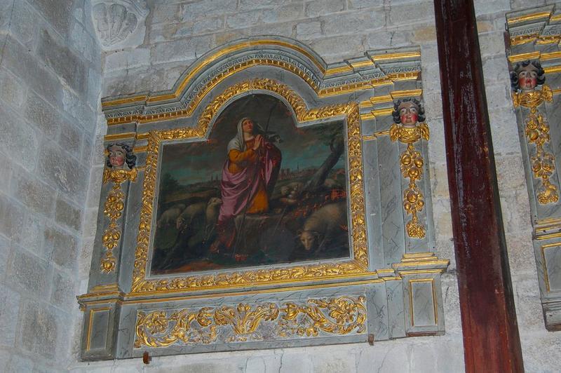 Panneaux de retable et leurs tableaux d'autel : sainte Germaine de Pibrac et sainte Marie-Madeleine