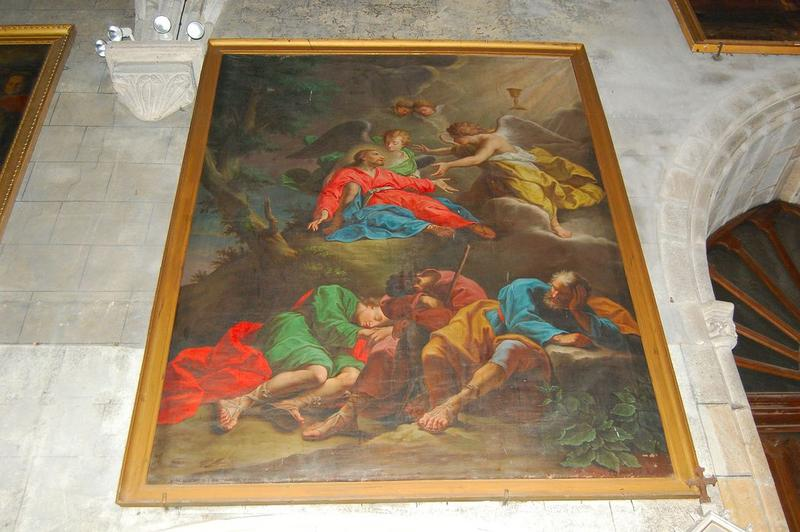 Tableau et cadre : l'Agonie du Christ