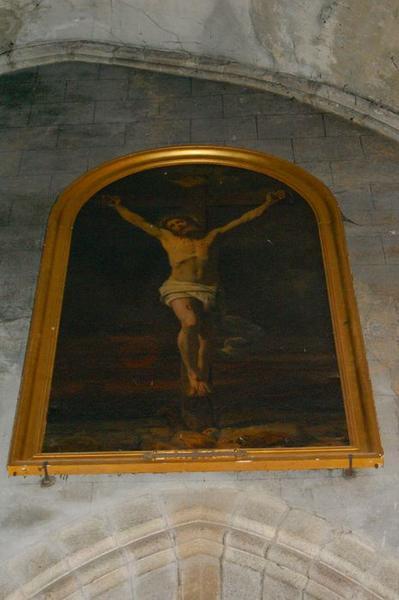 Tableau et cadre : Christ en croix