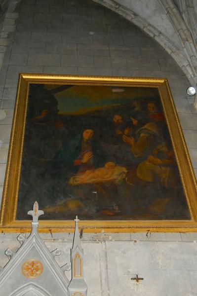 Tableau et cadre : l'Adoration des bergers