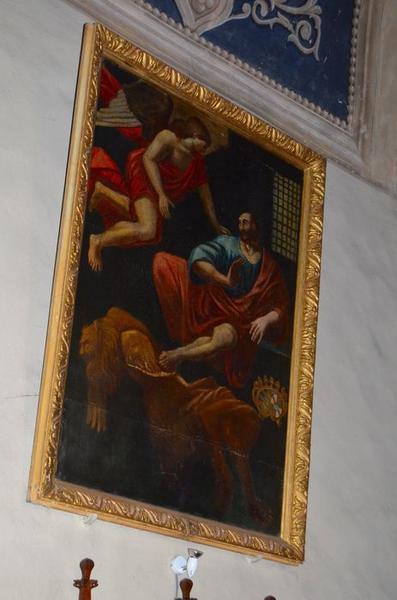 Tableau et son cadre : Délivrance de Saint Pierre