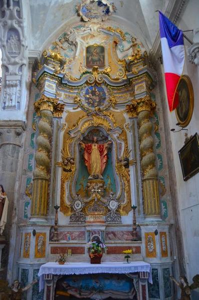 autel et retable dits du Sacré-Coeur, vue générale