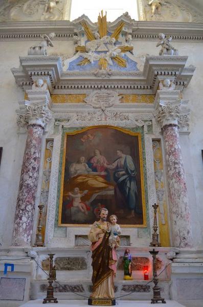 Autel retable de saint Joseph, tableau : la Mort de saint Joseph
