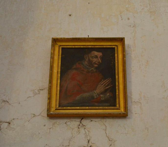 tableau et son cadre : Saint Charles Borromée, vue générale