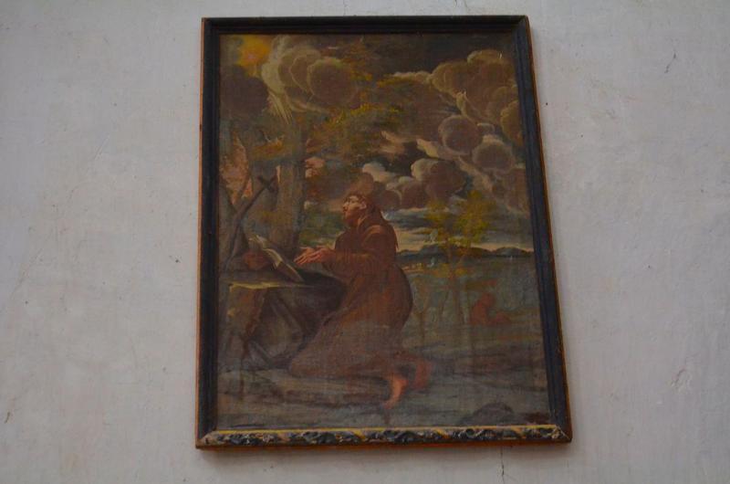 Tableau : Saint François d'Assise recevant les stigmates, cadre